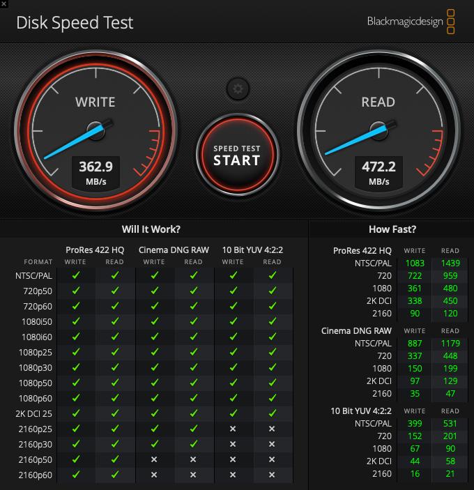 SSD化後の速度